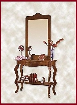 Tavoli consolle arte povera con specchio