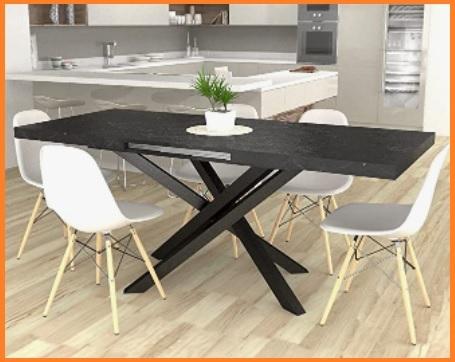 Tavolo consolle con sedie incorporate