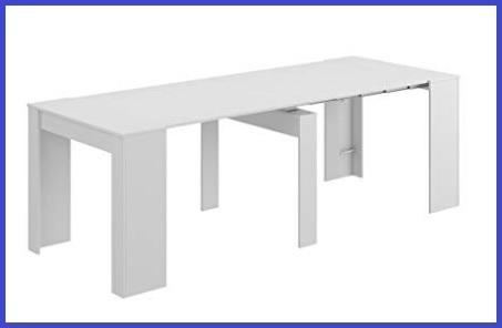 Tavolo consolle richiudibile bianco
