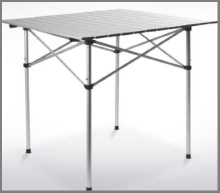 Tavolini campeggio pieghevoli e arrotolabile in alluminio - Tavoli pieghevoli alluminio ...