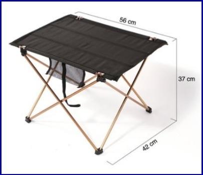 Tavolino Basso Campeggio Arrotolabile