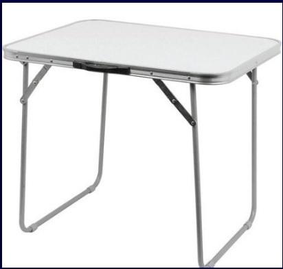 Tavolo campeggio alluminio pieghevole su se stesso
