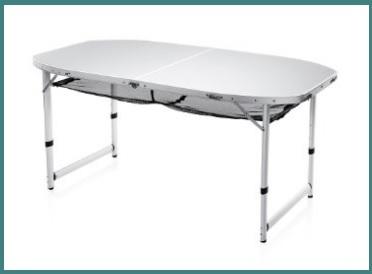 Tavolo camping alluminio regolabile