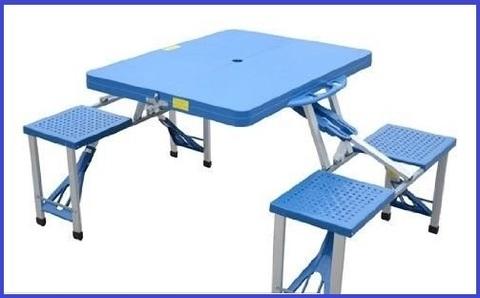 Tavolini campeggio pieghevoli con sedie