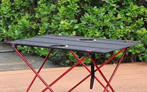 Tavolo Campeggio Alluminio Arrotolabile
