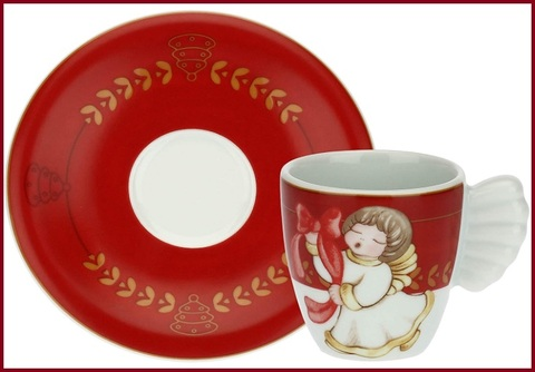 Tazzine caffè thun con angelo