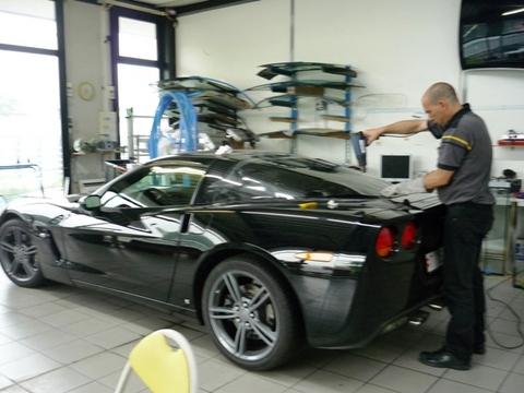 Corvette oscuramento vetri. 2 termoformatura