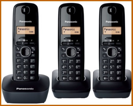 Telefoni cordless trio della panasonic per anziani