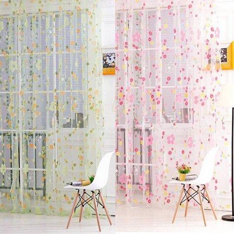 Tenda per interni colorata con stampato floreale