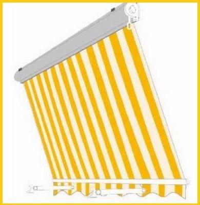 Tenda da sole a caduta di color giallo - bianco
