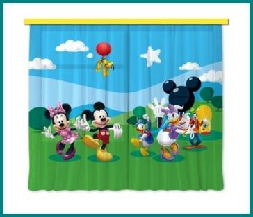 Tende per camerette per bambini disney mickey mouse - Tende camerette per bambini ...