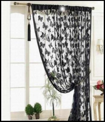 Tende dark e moderne con tema farfalle