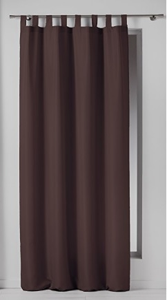 Tenda Oscurante Colore Cioccolato Lunga