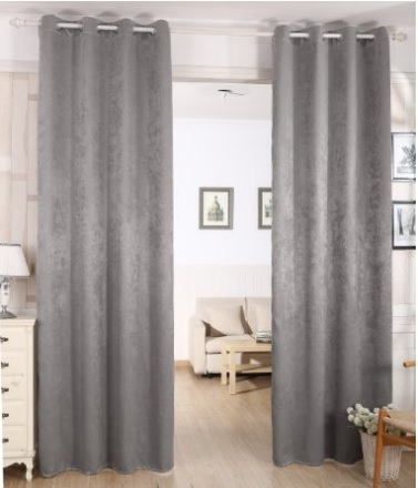Tenda oscurante e coprente in damasco dal colore grigio