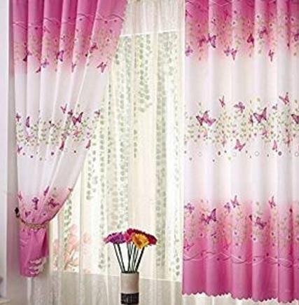 Tende Lunghe E Molto Belle Con Farfalle Sfumature Di Rosa