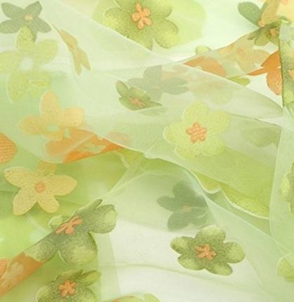 Tenda per finestre colorate e floreale