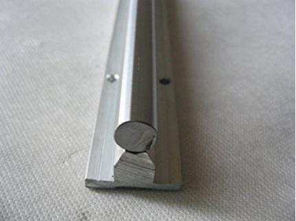 Binario lineare in alluminio con cuscinetti