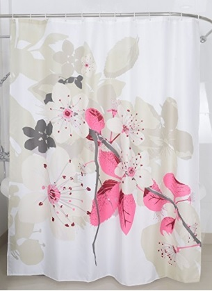 Tenda da bagno con fiori e natura