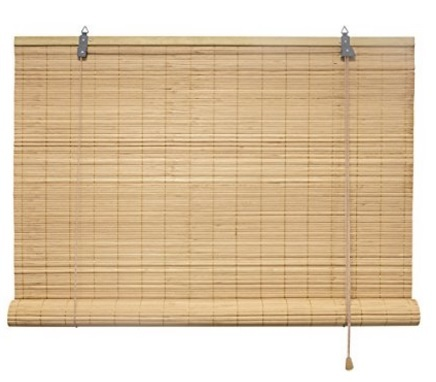 Tenda a rullo in bambù per interni