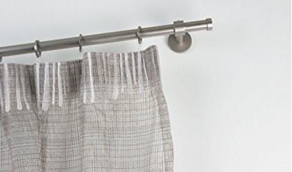 Bastone per tende in acciaio satinato