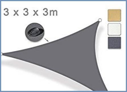 Tenda a vela triangolare blu