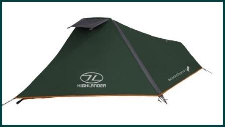 Tende camping monoposto dal colore verde scuro