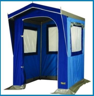 Tenda da campeggio a forma di casetta