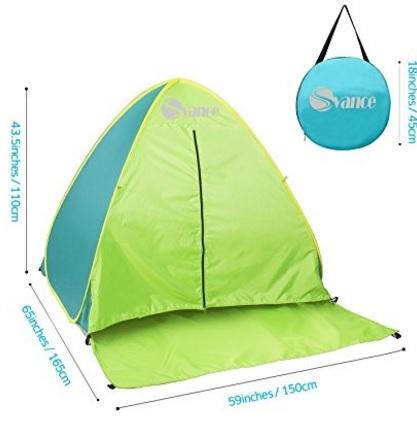 Tenda classica da campeggio con protezione uv portatile