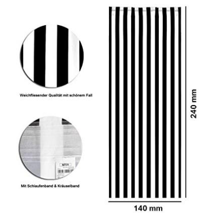 Tende a fili per interno grigio e nero