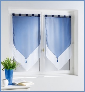 Tende interno blu coppia