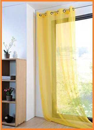 Tende interno gialle semi trasparente