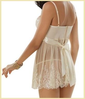 Babydoll biancheria intima mini vestito