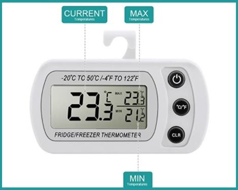Termometro per frigorifero e congelatore