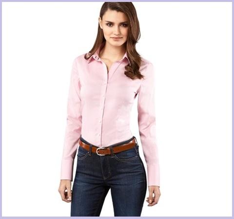 Camicia aderente da donna
