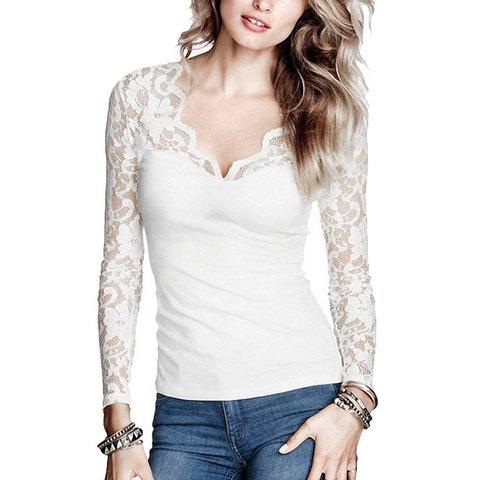Maglieria a manica lunga t-shirt donna
