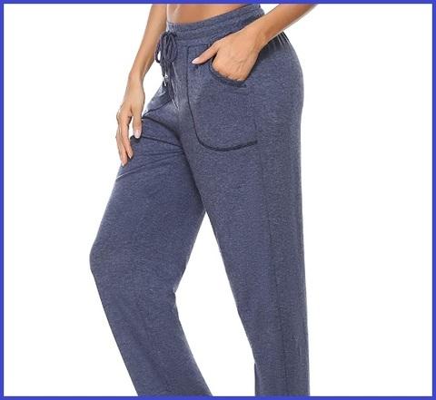 Pantaloni Per Donna Larghi In Jersey