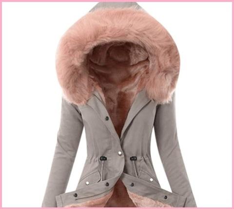 Giacca per donna in cotone colore stone
