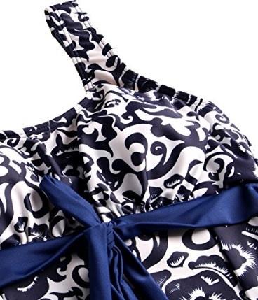 Vestito estivo elegante blue e bianco extralarge