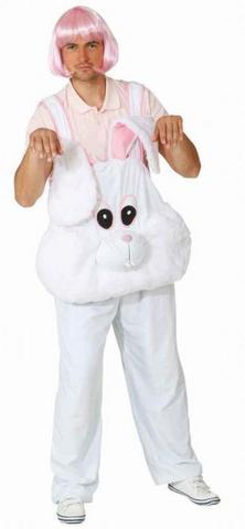 Costume peluche salopette coniglio