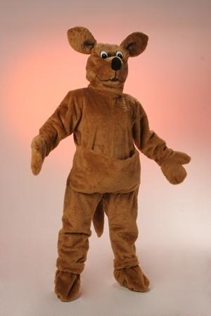 Costume peluche canguro mascotte gigante
