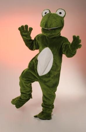 Costume peluche rana mascotte gigante