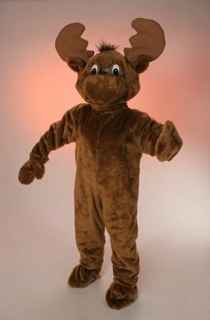 Costume peluche renna mascotte gigante