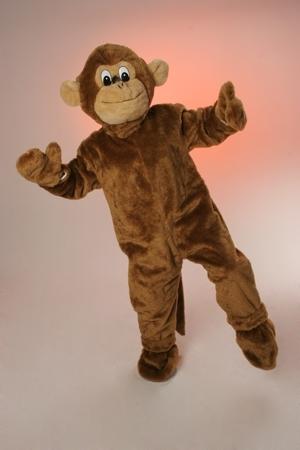 Costume peluche scimmia mascotte gigante