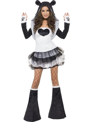 Costume panda sexy taglia s