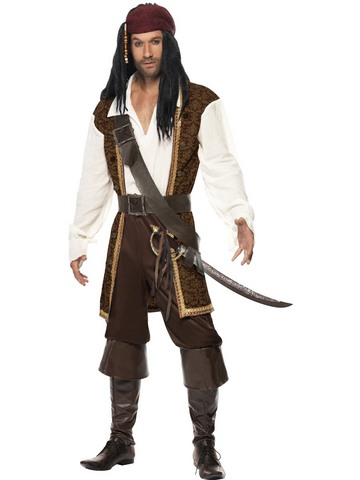 Costume pirata dei caraibi jack sparrow taglia l