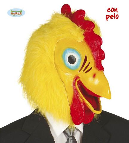 Maschera gallo del pollaio