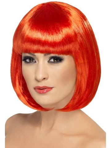Parrucca caschetto rossa