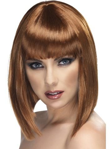 Parrucca glam castana