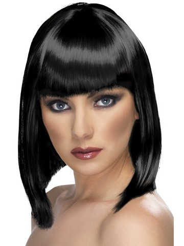Parrucca glam   nera