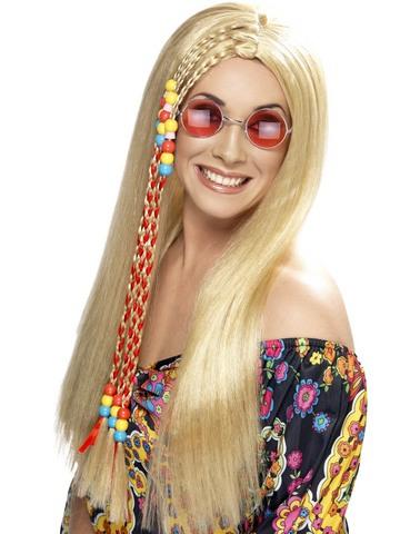 Parrucca hippy bionda